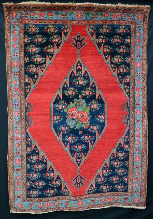 antique mazlaghan rug northwest persia