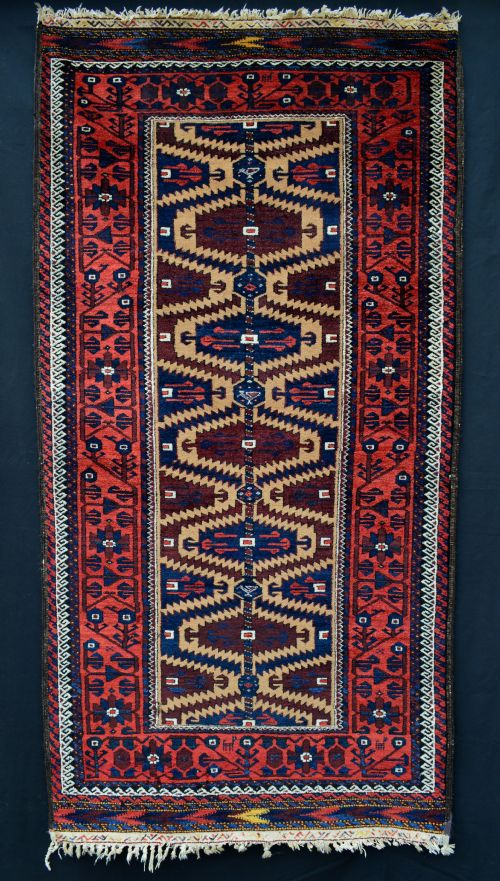 antique baluch tribal rug khorassan northeast persia