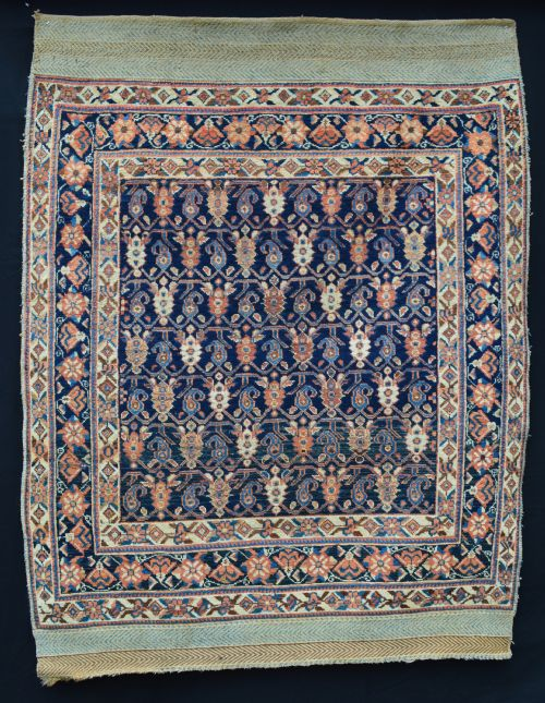 antique afshar tribal rug neiriz southern persia