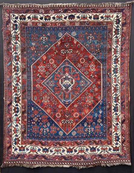 antique qashqa'i tribal rug fars province southwest persia