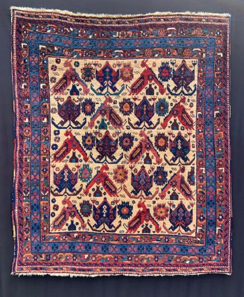 antique afshar tribal rug kerman province southern persia