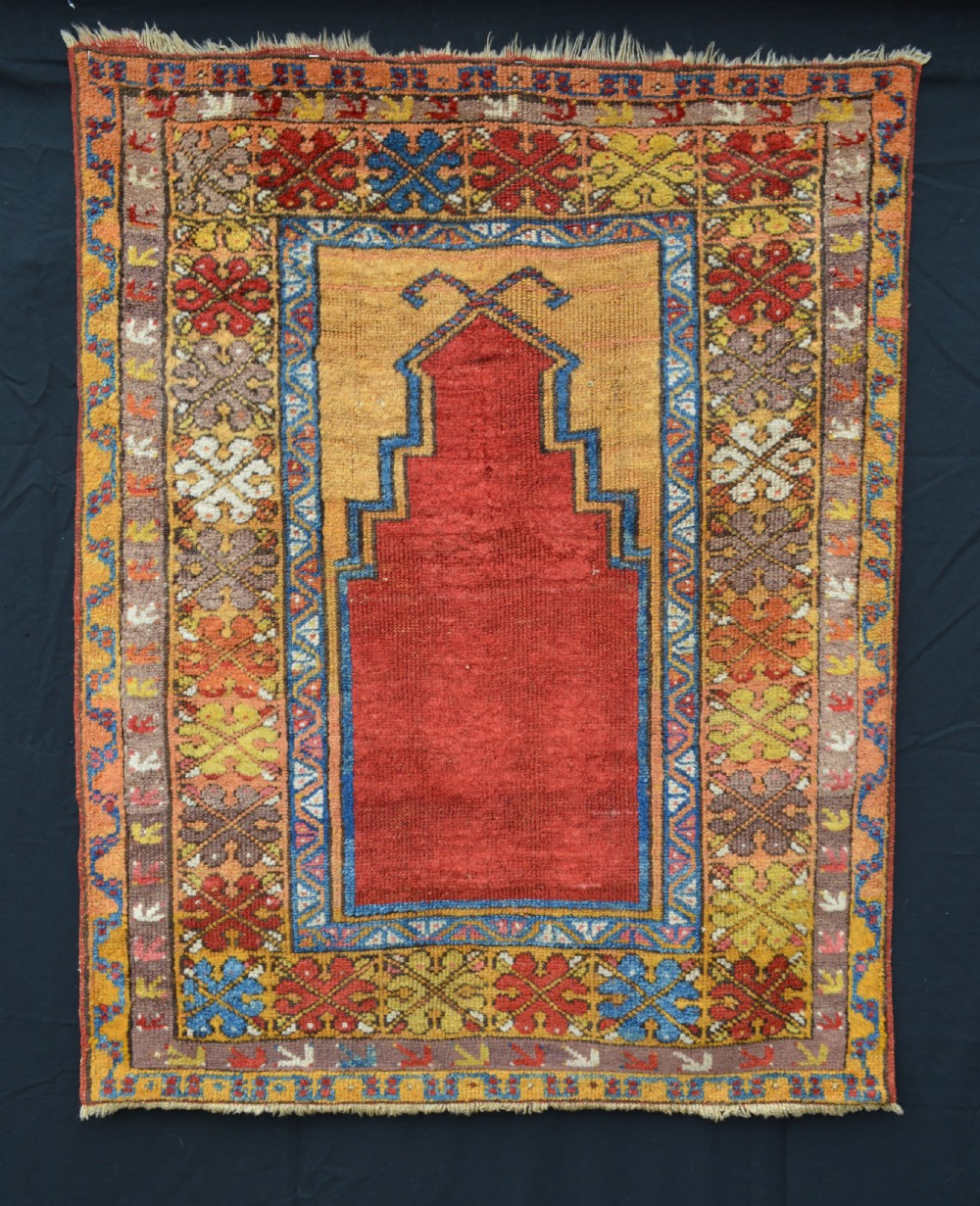 prayer rug possibly aksaray region central anatolia