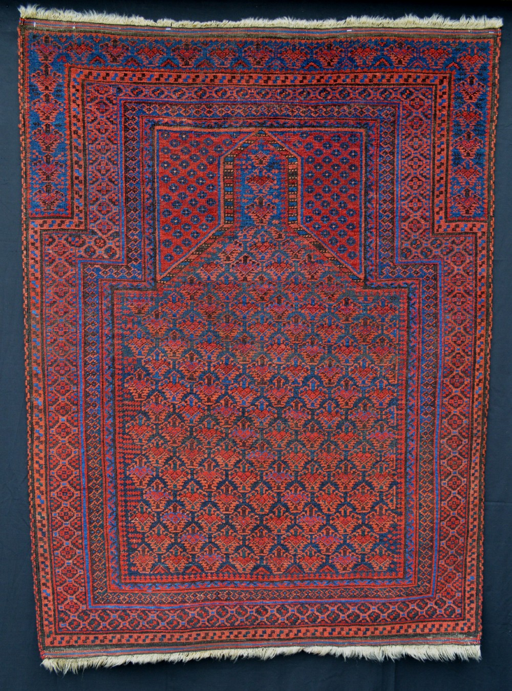 antique prayer rug timuri tribes dokhtareqazi group western afghanistan