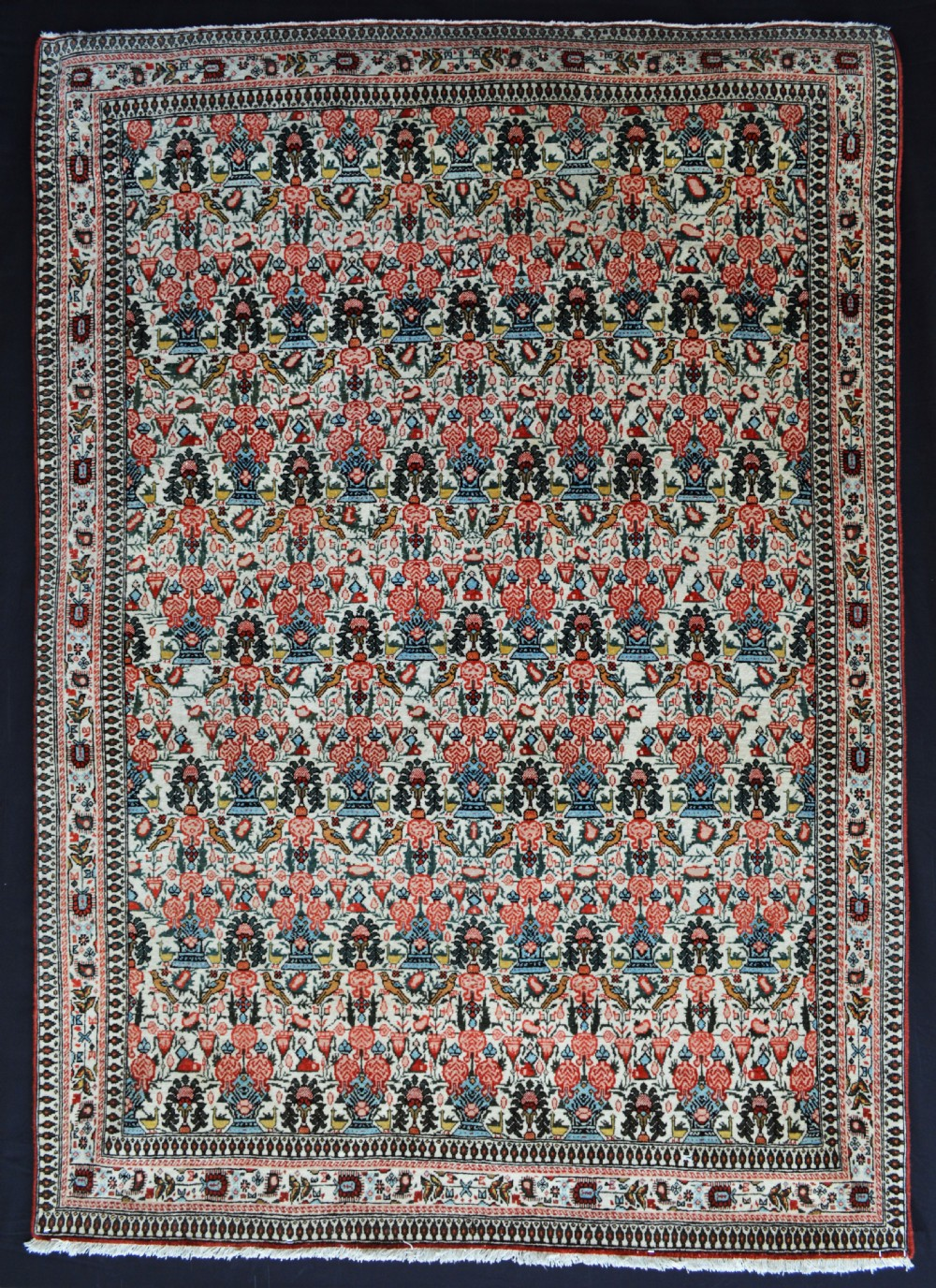 antique qom rug qom central persia