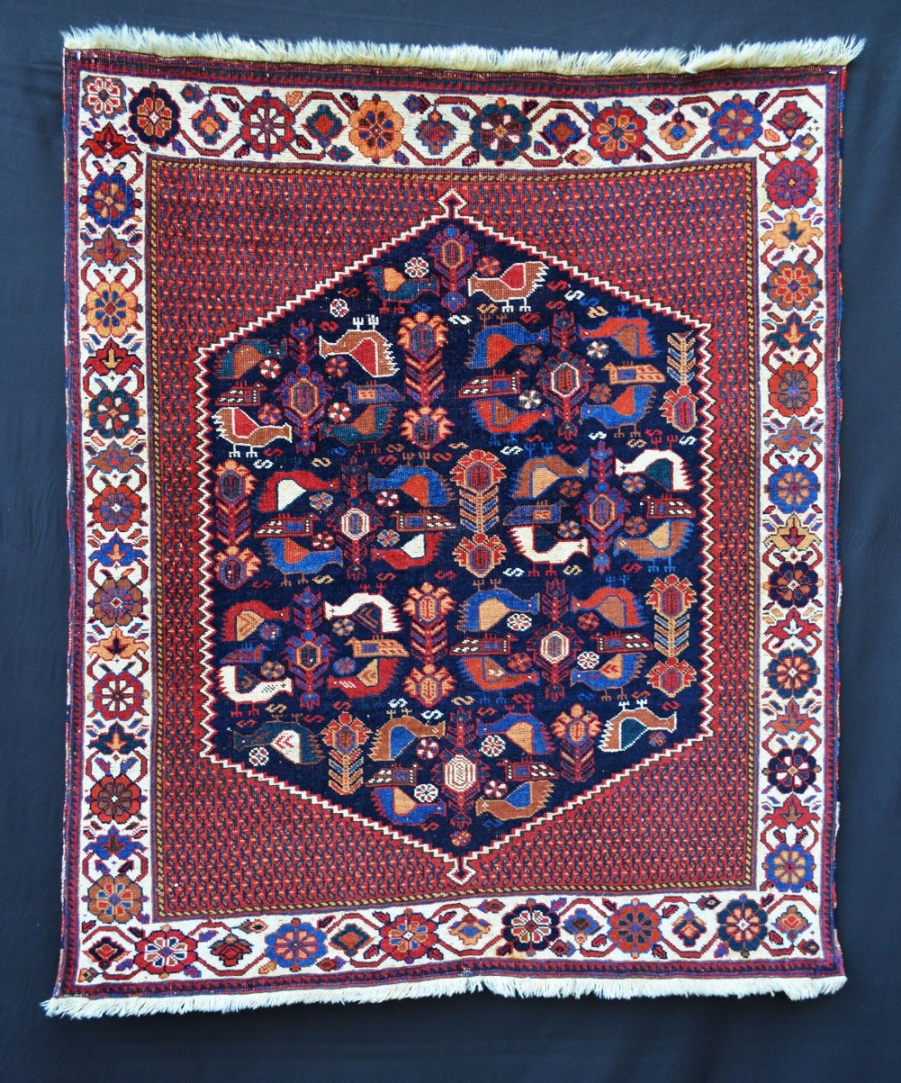 antique tribal rug 'masnad' afshar tribes kerman province southern persia