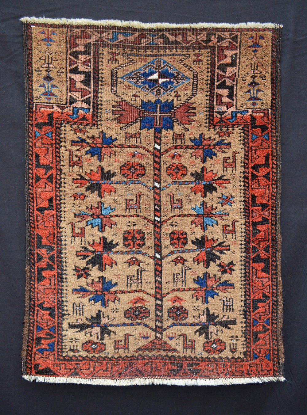 antique prayerrug baluch tribes persianafghan borderlands