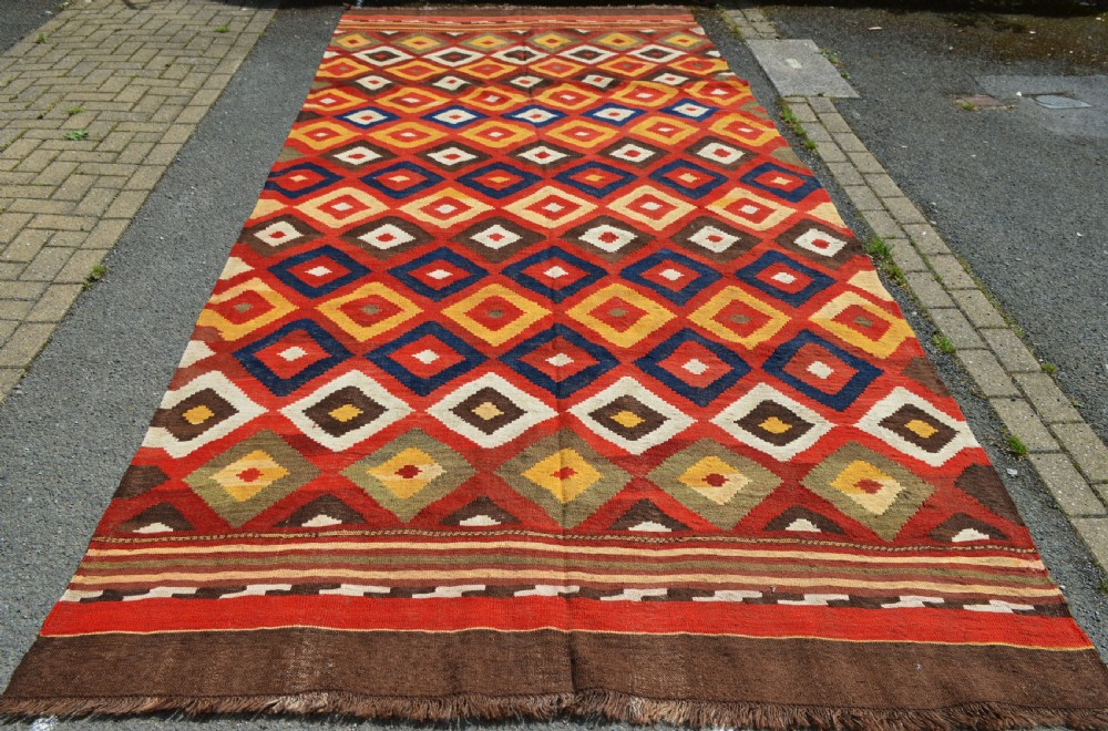 antique flatweave labijarmaimana northern afghanistan
