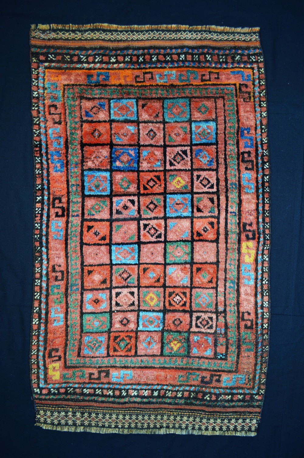 antique taimani tribal rug taimani nomads western afghanistan