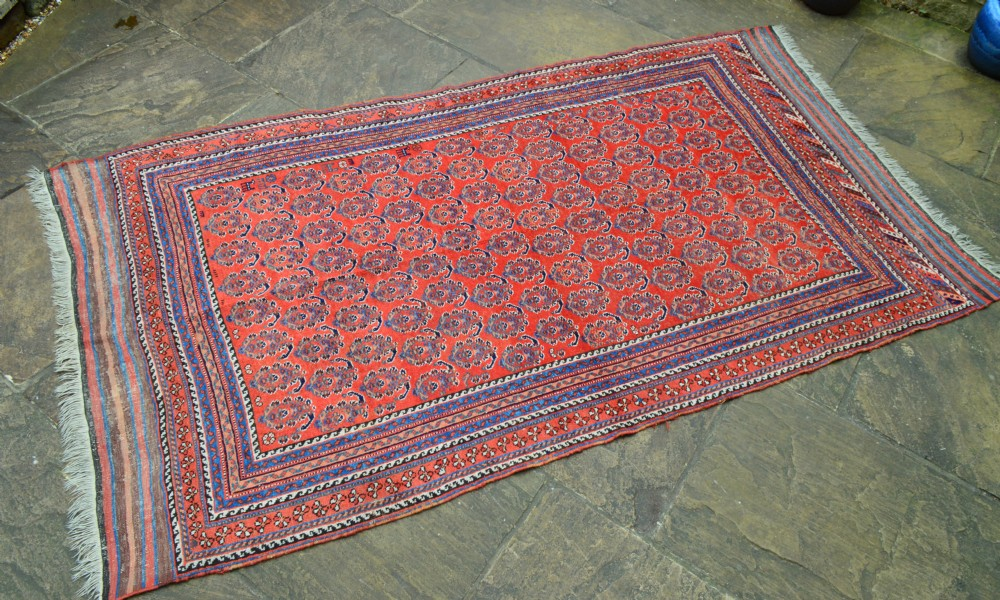 antique afshar tribal carpet kerman province south persia