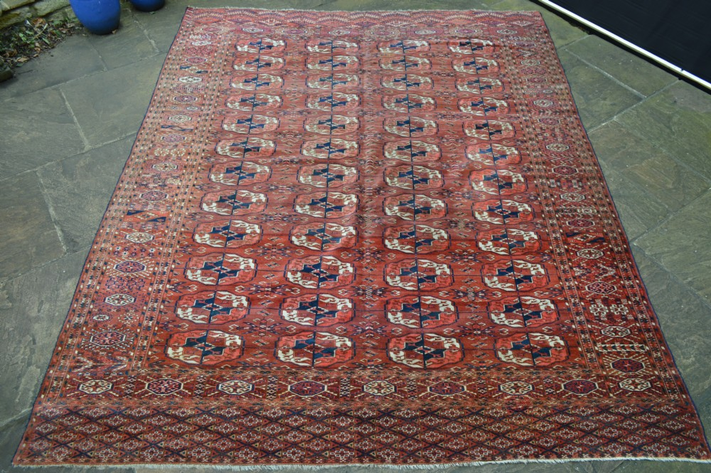 antique turkmen carpet teke tribes turkmenistan central asia