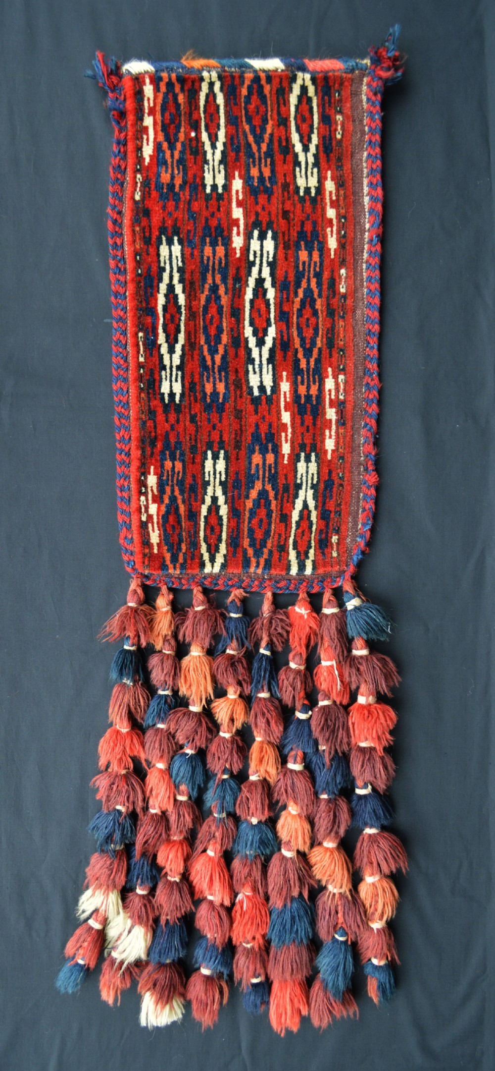 antique turkmen igsalyk spindlebag yomut tribe transcaspian steppes turkmenistan central asia