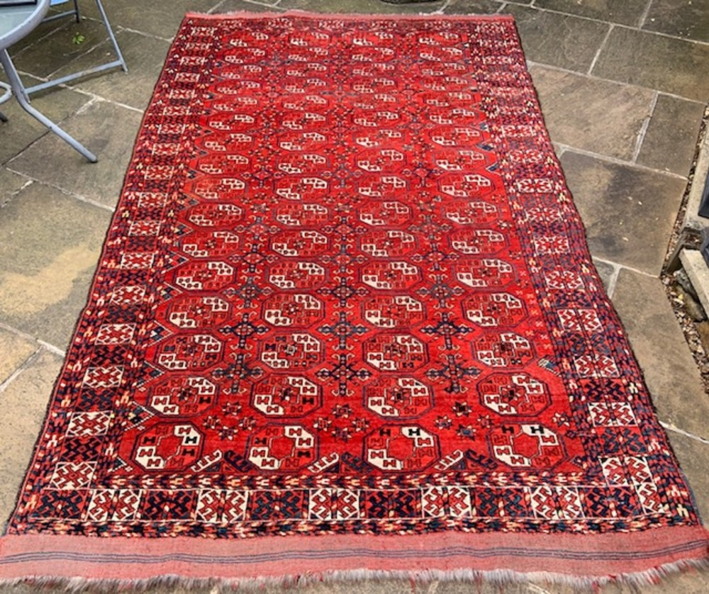 antique turkmen carpet kizyl ayak tribe turkmenistan central asia