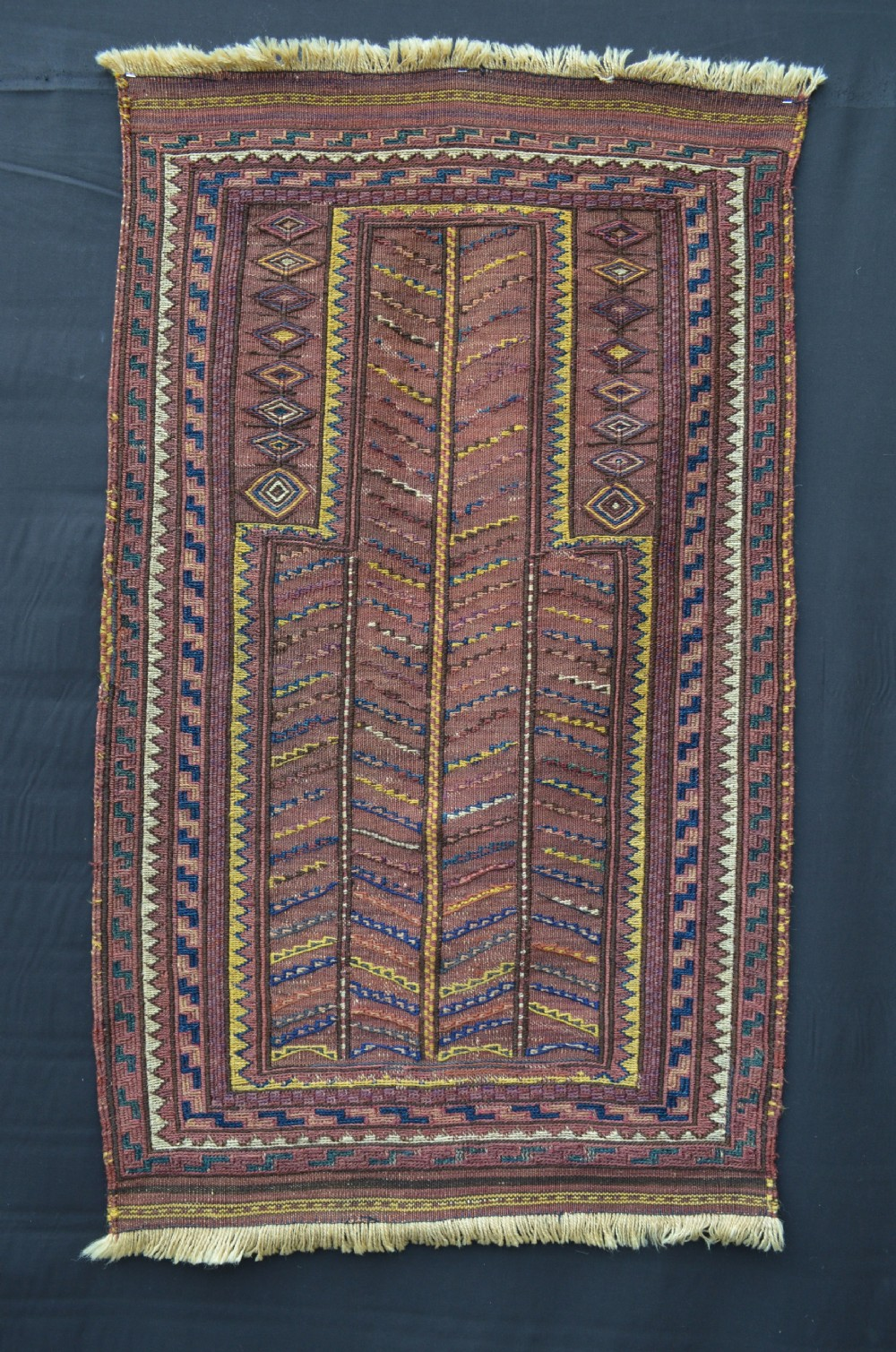 antique prayer flatweave kordi tribes quchan region khorassan northeast persia