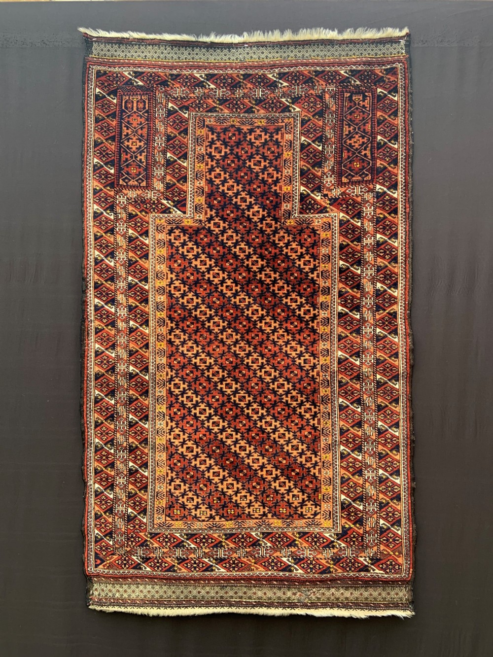 antique prayerrug timuri salar khani tribe borderlands of eastern persiawestern afghanistan