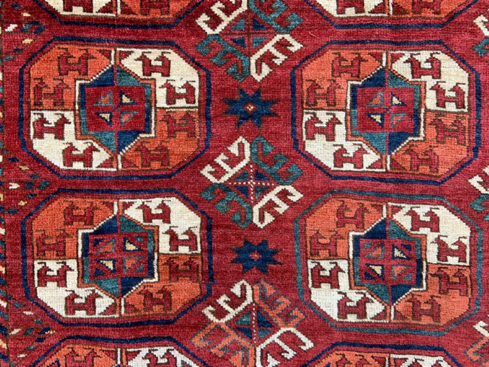 antique turkmen carpet kizyl ayak tribes turkmenistan central asia